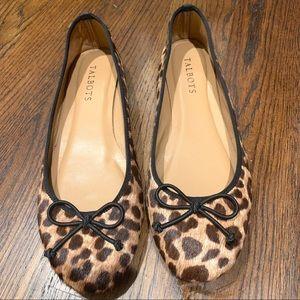 Like new leopard calf hair ballet flats 6